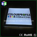 6mm Ultra-Thin Crystal LED de publicidad caja de ahorro de energía de luz