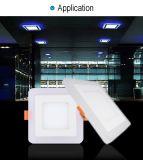 luzes de painel redondas do diodo emissor de luz da cor 6W dobro