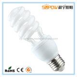 Meia lâmpada energy-saving leve do T3 CFL da espiral 15W