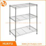 Estante del almacenaje de la cocina estante de acero del almacenaje de 5 de la capa de la luz mercancías del estante de acero resistente del metal