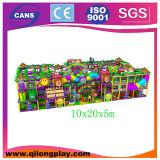 Aire de jeux intérieure en plastique colorée la plus récente