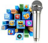 Vente chaude Mini Mobile Microphone clip filaires 3,5 mm sur les mini casque micro karaoké pour iPhone&ordinateur tablette Android