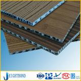 Панель сота декоративного деревянного зерна алюминиевая для внешнего плакирования