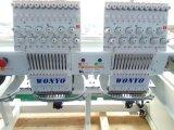 9 12 15 Naalden 2 Hoofden 1000rpm Hoge snelheid Geautomatiseerde Machine van het Borduurwerk