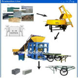 Preço concreto Semi automático da máquina de fatura de tijolo do cimento