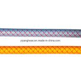 Le boyau de jet de PVC pour l'agriculture 3 a posé (knit, type d'armure)