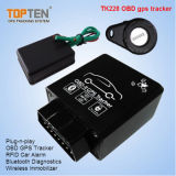 OBD2 Car GPS Tracker com Wireless Relay Stop Restore O motor, Monitor Voice Tk228-Ez