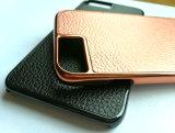 Cassa dura del telefono mobile dell'olio dell'iniezione del cuoio di lusso del PC per il iPhone