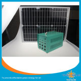 Système solaire à la maison de production d'électricité de 60 W avec la lampe lumineuse superbe de 5PCS 5W DEL et avec le câble de 5m