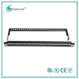 24 Port-UTP Blank Patch Panel mit Back Bar