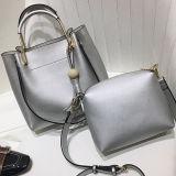 Saco de Tote de couro do plutônio da planície do preço de grosso da fábrica de China com as bolsas pequenas removíveis Sy8302 das mulheres do malote