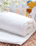 Edredão de seda longa com manto de hotel natural com tecido de algodão dos anos 60