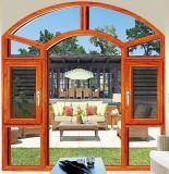 Алюминиевый профиль мощности с покрытием черного цвета Наружная дверная рама перемещена окна