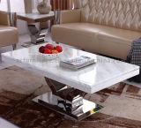 Мраморные верхней части рамы из нержавеющей стали используется столовая мебель для столовой таблиц