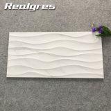 Foshan Blanco Artificial Azulejos de cerámica de onda, fábrica de baldosas de cerámica decorativa