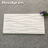 Azulejos de cerámica de la pared de la onda blanca artificial de Foshan, fábrica decorativa de la baldosa cerámica