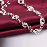 熱い販売のGrilのための銀によってめっきされる円のペンダントのネックレス