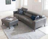 新しい革ソファーおよび小さいアパートの居間のソファー