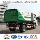 5cbm Foton Forland 유로 4 휘발유 가솔린 훅 팔 드는 유형 쓰레기 트럭
