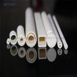 Tubo di ceramica della fornace resistente all'uso dell'allumina di 75%92%95%99% per la candela di ceramica del tubo dell'elettrodo della fornace