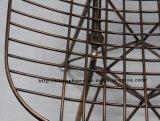 El restaurante del metal de la reproducción golpea abajo la silla lateral de Eames del alambre de cobre