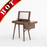 جوزة تخزين خشبيّة يرتدي تفاهة طاولة مع مرآة
