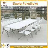 도매 고품질 6FT&8FT 장방형 중공 성형 플라스틱 테이블 의자