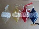 Poignée de commande de cône de verre de couleur pour Noël