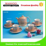Design traditionnel jeu de café en porcelaine moderne nécessaire à thé avec CUPS & soucoupes