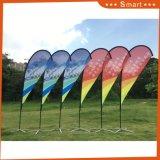 Горячее продавая промотирование рекламируя флаг пляжа летания пера Teardrop печатание