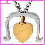 Il cuore unico Ijd8148 in collana Pendant di cremazione dell'acciaio inossidabile del portello incenerisce il supporto del Keepsake