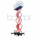 El móvil del acero de manganeso Scissor la elevación (altura máxima los 12m de la plataforma)