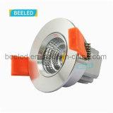 3W proyecto blanco fresco ahuecado Dimmable especular LED comercial Downlight