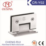 Wall to Glass Stainless Steel Glass Hardware Charnière pour douche (CR-Y02)