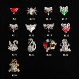 3D Glitter Charms Rhinestones Decalques de metal para Nail Art Beauty Decoration