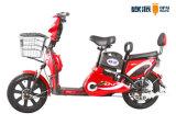 Adulto eléctrico de la moto con la parte trasera del respaldo del pedal 1: 1 PAS ciclomotor
