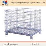 Almacenamiento de malla de alambre galvanizado jaula plegable