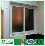 Ventana de desplazamiento cubierta polvo con la aleación de aluminio