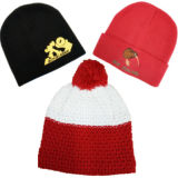 Vente en gros Cheap Custom Baby Kids Slouchy Brodé Knitted Winter Warm Cap Bonnets Bonnets pour Hommes