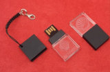 Unidade de disco rígido de cristal pequeno, disco rígido USB de cristal preto e USB
