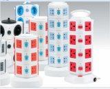 新しいタワーのマルチ電力ソケットの/Surgeの保護USB/UK/Us/EU/Auプラグ