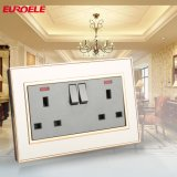 Universal Standard 2gang Switched 13A Socket with Light