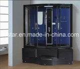 1350mm rectángulo Negro sauna de vapor con jacuzzi y ducha (AT-G0203)
