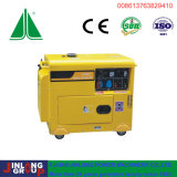 6kVA el tipo portable aire refrescó uso diesel del hogar del generador
