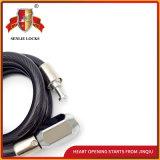 Jq8224-Q zwei Farben-Sicherheits-Spirale-Fahrrad-Motorrad-Verschluss-Kabel-Verschluss