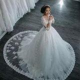Платье венчания Alsw1704 длинней втулки 2017 выполненное на заказ