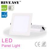 8W panneau carré d'éclairage LED de l'acrylique LGP avec le grand panneau d'éclairage LED de radiateur