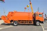 Euro4 180HP 6wheel LHD JAC 쓰레기 압축 분쇄기 쓰레기 트럭 10tons