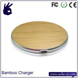 Slim Portable New Bamboo Chargeur sans fil Smartphone chargeur Pad