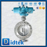 Valvola a farfalla di derivazione di triplo pneumatico dell'acciaio inossidabile 304 di Didtek